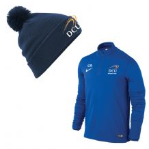 DCU Business Studies Pack 1/4 Zip Midlayer & Bobble Hat
